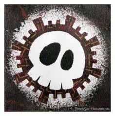 POTIONSMITH: Painters Tape Skulls