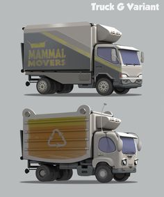 Jim Martin - Zootopia vehicles.  Buses, cars, a garbage truck. ...