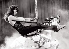Paz de la Huerta on a merry go-round...this couldn't be MORE my styling dream come true.