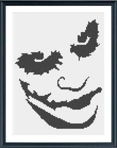 Cross Stitch Pattern - Joker PDF on Etsy, $3.50