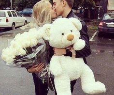 #love #amor #boyfriends #roses #whiteroses #teddybear #white #beatiful