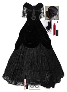 """Gothic wedding"" by glitterkittykat ❤ liked on Polyvore featuring Oasis, Anastasia Beverly Hills, Ardell, Too Faced Cosmetics, women's clothing, women, female, woman, misses and juniors"