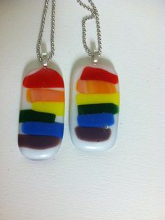 Gay Pride Necklace  Gay Pride Couples  Gay by FusionGlassJourneys