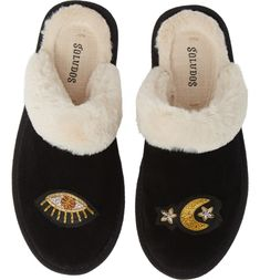 As a dog owner, it's really annoying to go outside in the freezing cold and snow to take your dog out. Make your morning routine cozier with these cute, warm slippers. Bedroom Slippers, Baby Slippers, Slipper Socks, Womens Slippers, Acorn Kids, Leather Slippers, The Vamps, Fur Trim, Faux Fur