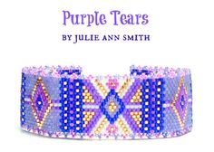 Julie Ann Smith Designs PURPLE TEARS Odd Count Peyote Bracelet Pattern