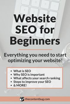 What is website SEO, anyways? All website owners know that SEO is important but where do you get started?With this Website SEO for Beginners guide I'm covering all of your questions! Including why SEO is important, what affects your search ranking, steps