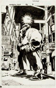 Fantastic Four #56 p. 2 - Ben Grimm, The Thing by Stuart Immonen *