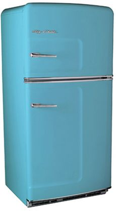 """Big Chill Refrigerator: Retro Style for the Kitchen_For us, the Big Chill Fridge is about as cool as you can get while still maintaining a practical and functional kitchen space.    Interestingly, we had a funny """"He said, she said"""" last night with a couple of friends where we discovered that the ladies tend to like the sleek style of stainless in the kitchen and it was the men that thought retro was the way."""