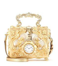 Dolce & Gabbana Dolce embellished wooden shoulder bag