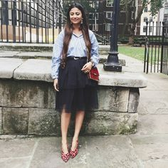ashion week outfit, lfw, london fashion week, striped shirt casual, casual chic, blue black red, london fashion week sep 2016, lfw ss17, lfw blogger outfit, lfw day 2, lfw ss17 day 2, 2016 fashion week blogger outfit, bloglovin h&m awards, top indian blogger, uk blogger, london blogger, london street style, fashion week street style, lfw street style, topshop slingback, red leopard shoes, red slingback, 2016 shoe trend, statement shoes, autumn trend, how to wear trend, style trend, 2016 top…