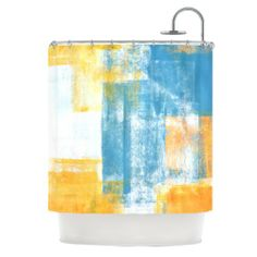 69 by 70 Kess InHouse Iris Lehnhardt Abstract Leaves II Brown Tan Shower Curtain