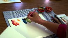 Porcelain Painting -Chris Ryder - Impressionistic Poppy Stage 3
