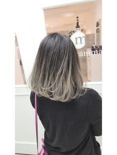 Hair Dye Colors, Ombre Hair Color, Cool Hair Color, Gray Hair Highlights, Hair Streaks, Dip Dye Hair, Dyed Hair, Medium Hair Styles, Curly Hair Styles