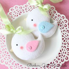 mini plushie birds to love Birds white