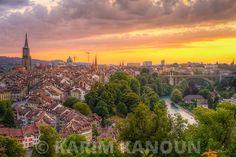 Golden Sunset - Bern Lausanne, Bern, Fine Art Prints, Sunset, Outdoor, Sunsets, Outdoors, Art Prints, Outdoor Games