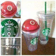 Crystaled cups and lids