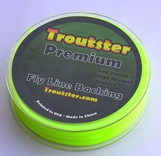 Fly Line Backing - Troutster Premium Fly Fishing Line Backing   20-30 Pound Test   50 or 100 Yards Length Fly Backing - Color: Yellow or White - Fly Reel Backer Fits All Types of Fly Fishing Reels; Fly Rod Backing for Trout, Bass, Pike, Salmon, Steelhead and More.