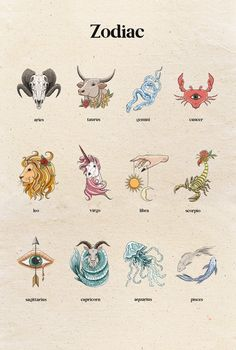 Zodiac Symbols, Zodiac Art, My Zodiac Sign, Virgo Zodiac, Cancer Zodiac Symbol, Scorpio Zodiac Tattoos, Art Zodiaque, Witch Clipart, Zodiac Constellations