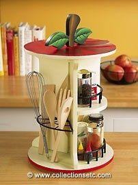 Apple kitchen organizer