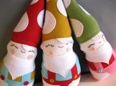 Stuffed Gnome Doll Children's Plushie in Red by rileyconstruction, $48.00