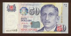 Singapore banknotes 50 Dollars banknote Portrait Series Singapore dollar, Singapore banknotes, Singapore paper money, Singapore bank notes, Singapore dollar bills - world banknotes money currency pictures gallery. Dollar Coin, Dollar Bills, Singapore Dollar, Portrait, Childhood Memories, Banknote, Tatting, 50th, Nostalgia