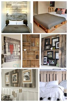 #pallet #diy #palletideas on ItalianBark DIY pallet ideas. Headboard, art, bed frame & undermined storage & more.