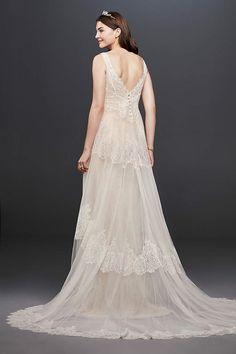 View Tank Long Wedding Dress at David's Bridal