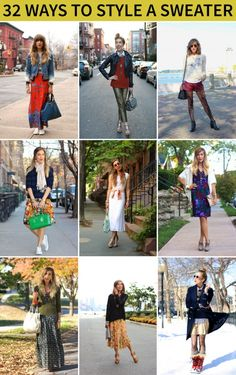 Fighting winter wardrobe boredom 1 look at a time... 32 ways to wear a sweater on S&P!