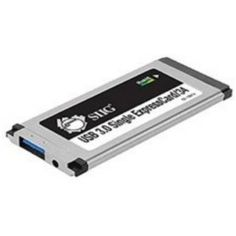 SIIG JU-EC0212-S1 Compact Single SuperSpeed USB3.0 ExpressCard/34 by SIIG. $30.45. Description:SIIG's USB 3.0 Single ExpressCard/34 instantly adds a SuperSpeed USB 3.0 port to your ExpressCard-enabled PC computer. It is designed to deliver USB 3.0 data transfer rates of up to 5Gb/s and work with systems having an available 34mm or 54mm ExpressCard slot. It's hot-swapping USB 3.0 interface allows you to connect and disconnect USB devices without first turning your system off...