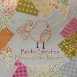Birdie of the month blocks to embroider and combine into a quilt