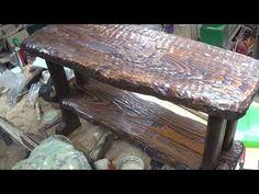 HOW TO MAKE A BENCH-КАК СДЕЛАТЬ БРУТАЛЬНУЮ ЛАВКУ под старину. -ANTIQUE BENCH-Мебель своими руками. - YouTube