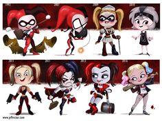 The Art of Jeff Victor — Evolution of Harley Quinn Print