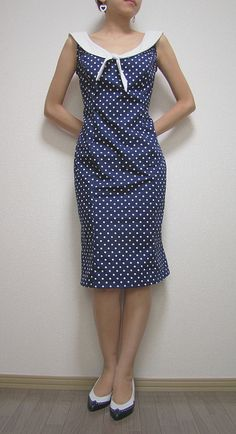Polka Dots Sailor Dress by ophelia.k, via Flickr