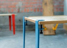 The Floyd Leg / make a table from any surface material. Made in Detroit.