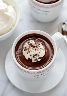 French Hot Chocolate Recipe. The best dark hot chocolate recipe!