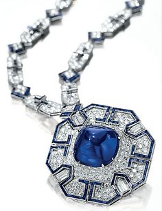 A SAPPHIRE & DIAMOND SAUTOIR BY BVLGARI Elizabeth Taylor's Bulgari Sapphire & Diamond Sautoir, one of the many pieces of her jewellery that were auctioned by Christie's in New York in 2011. It sold for almost US 6 million.