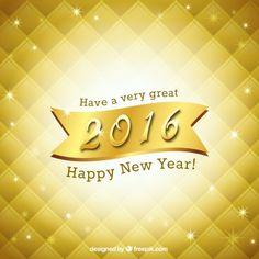 Novo Fundo brilhante ano de ouro Vetor grátis