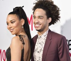 Alexandra Shipp and Jorge Lendeborg Jr. who play Nick and Abby in Love, Simon on the red carpet. Great Love Stories, Love Story, Simon Spier, Alexandra Shipp, Becky Albertalli, Love Simon, Coming Of Age, Movies Showing, Red Carpet