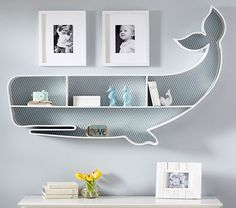 Super cute whale book shelf for nursery by pottery barn