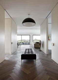 Dark herringbone floor - inspiration for our restaurant floor