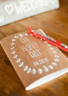 Oh Happy Day guest book. Photo by Taylor Lord Photography. #wedding #guestbook
