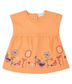 Organic Baby, Organic Cotton, Orange, Summer Dresses, Aurora, Tank Tops, Material, Mini, Products