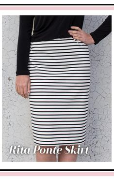 Rita Ponte Skirt PDF Copy Shop Sewing Pattern Sizes 10 Digital PDF sewing pattern by Style Arc for Printing at Home Pdf Sewing Patterns, Dress Patterns, Knit Pencil Skirt, Short Skirts, Print Print, Size 16, Letter Size, A4