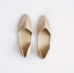 Natural Raffia D'Orsay Slip On - Proud Mary