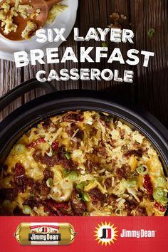 This Six Layer Breakfast Casserole recipe is layers and layers of deliciousness on deliciousness. The Tex-Mex popping flavors of Jimmy Dean Premium Hot Pork Sausage with signature seasonings, jalapeños and cheese is sure to be a favorite. Egg Recipes For Breakfast, Breakfast Dishes, Sausage Breakfast, Best Breakfast, Breakfast Casserole, Brunch Recipes, Tofu Breakfast, Breakfast Ideas, Jimmy Dean