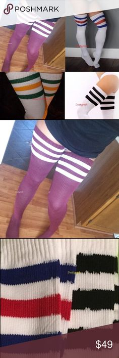 American Apparel Thigh High Socks Over The Knee 2 Thigh High Socks, Thigh Highs, Knee Highs, American Apparel, Slouch Socks, Tall Socks, Sock Leggings, Stocking Tights, High Knees