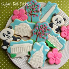 Sugar cookies with royal icing for a Washington, DC Wedding from Sugar Dot Cookies