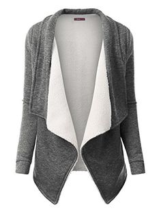 Doublju Oversized Warm Faux Fur Open Cardigan Coat for Women with Plus Size HeatherGray Medium Oversized Cardigan, Open Cardigan, Maternity Sweater, Red Media, Sweater Coats, Sweaters For Women, Women's Sweaters, Plus Size, Style Inspiration