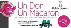 20 mars, journée du macaron et de la solidarité pour vaincre la mucoviscidose.Macarons à la mûre pour le jour