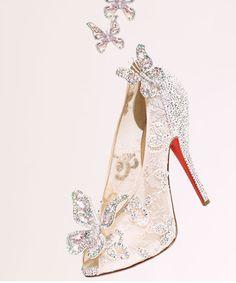 Louboutin glass slipper